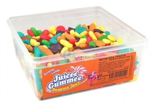 Juicee Gummee Neon Sea Creatures Tub